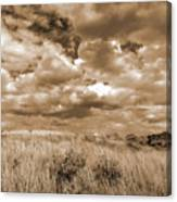 Prairie And Sky Canvas Print