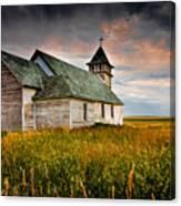 Prairie Church Canvas Print
