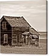 Prairie Home Sepia Canvas Print