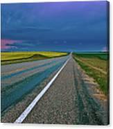 Prairie Storm Saskatchewan Canvas Print