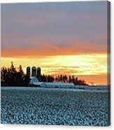 Prairie Winter Sunrise Canvas Print
