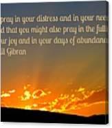 Pray Abundantly Canvas Print