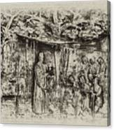 Prayer Meeting At Jamestown Canvas Print