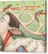 Prayer Of Elk Woman Canvas Print