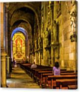 Prayers In The Cathedral Canvas Print