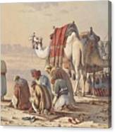 Prayers In The Desert Canvas Print