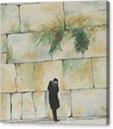 Praying At The Western Wall Canvas Print