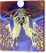 Praying Goodnight To The Moon Canvas Print