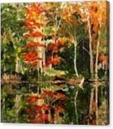 Prentiss Pond, Dorset, Vt., Autumn Canvas Print