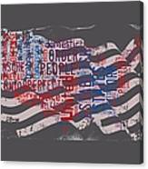 Preamble To The Constitution On Us Map Canvas Print