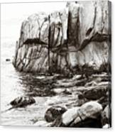 Precarious At Pebble Beach Canvas Print