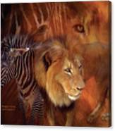 Predator And Prey Canvas Print