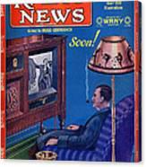 Predicting Television At Home, Radio Canvas Print