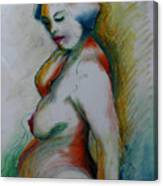 Pregnant Nude Canvas Print