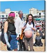 Pregnant Pirate Canvas Print