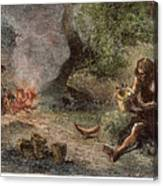 Prehistoric Man: Pottery Canvas Print