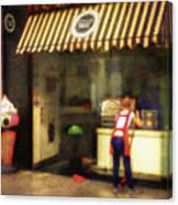 Preparing The Ice Cream Shop Canvas Print