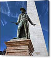 Prescott Statue On Bunker Hill Canvas Print