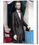President Abraham Lincoln In Color Canvas Print