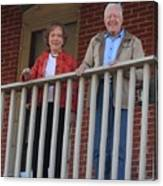 President And Mrs Carter On Plains Inn Balcony Canvas Print