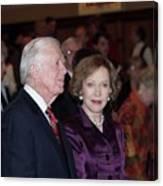 President And Mrs. Jimmy Carter Nobel Celebration Canvas Print