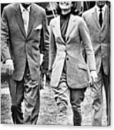 President Ayub Khan Left, Of Pakistan Canvas Print