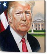 President Donald Trump Art Canvas Print