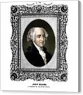 President John Adams Portrait  Canvas Print