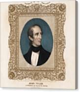 President John Tyler - Vintage Color Portrait Canvas Print