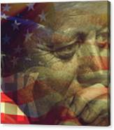 President Kennedy - Digital Art Canvas Print