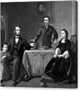 President Lincoln And His Family  Canvas Print