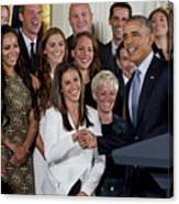 President Obama Honors Us Womens Soccer Team At White House #1 Canvas Print