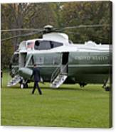President Obama Walking Toward Marine One Canvas Print