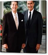 President Reagan And George H.w. Bush - Official Portrait  Canvas Print