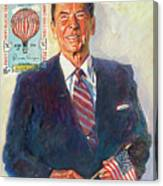 President Reagan Balloon Stamp Canvas Print