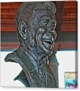 President Reagan Bust Canvas Print