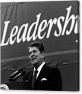 President Ronald Reagan Leadership Photo Canvas Print