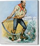 Presidential Campaign, 1880 Canvas Print