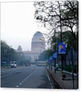 President's House At New Delhi Canvas Print