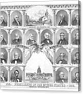 Presidents Of The United States 1776-1876 Canvas Print
