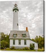Presque Isle Lighthouse  - Lake Huron, Lower Peninsula, Mi Canvas Print