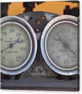 Pressure Gauge Canvas Print