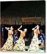Pretty Dancers In Tahiti Canvas Print
