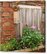 Pretty Garden Wall Canvas Print