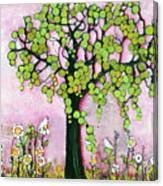 Pretty In Pink Paradise Tree Canvas Print