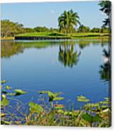 Tranquil Lake In Florida Canvas Print