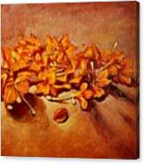 Pretty Little Orange Flowers - Kankaambaram Canvas Print
