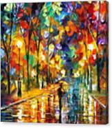 Pretty Night - Palette Knife Oil Painting On Canvas By Leonid Afremov Canvas Print