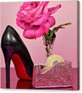 Pretty Pink Bling Office Accessories Canvas Print