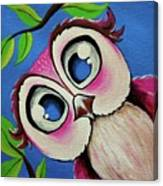 Pretty Pinky Owl Canvas Print